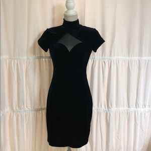 Night Way Collections Size 4 Velvet Cocktail Dress